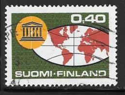 Finland, Scott # 440 Used UNESCO, Map, 1966