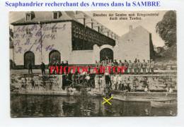 SCAPHANDRIER Militaire-SAMBRE-TAUCHER-Carte All.-Guerre 14-18-1 WK-Militaria-Feldpost 24 Res. Div.-FRANCE-BELGIQUE-  PO - Guerra 1914-18