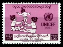 (24) Myanmar / Burma / Birmanie  1961 / Unicef / Children / Enfants / Kinder  ** / Mnh  Michel 168 - Burma (...-1947)