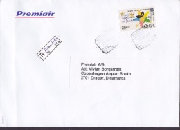 Spain PREMIAIR Registered Certificado Label AEROPUERTO Reina Sofia TENERIFE 1997 Cover Letra ATM / Frama Carnaval - Poststempel - Freistempel