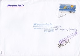 Spain PREMIAIR Registered Certificado Label AEROPUERTO Palma MALLORCA 1995 Cover Letra Denmark ATM / Frama Label Natural - Poststempel - Freistempel