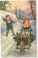 CHILDREN In WINTER 1920 - E. Colombo Signed - Colombo, E.