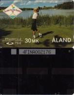 ALAND ISL.(GPT) - Golf, CN : 4FINA(4mm), Tirage 4000, 06/91, Mint