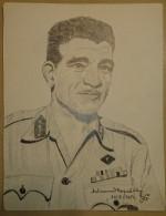 Dessin Au Crayon-Illustrateur -Mohammed Naguib Président De La République D'Égypte (6) - Dessins