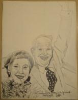 Dessin Au Crayon-Illustrateur -Le Général Eisenhsower Et Son épouse (6) - Dessins