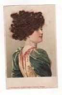Cpa Avec Femme    Vrais Cheveux Collés - Non Classés