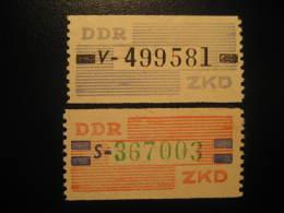 ZKD Michel Nº 26/7 Cat. 2003: 41 Eur ** Unhinged Dienstmarken Service DDR Germany - Service