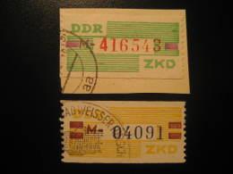 ZKD Michel Nº 24/5 Cat. 2003: 14 Eur Used Cancel Dienstmarken Service DDR Germany - DDR