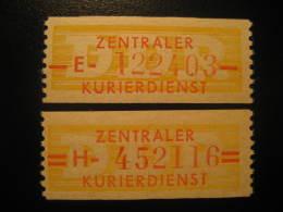 ZKD Michel Nº 16/7 Cat. 2003: 100 Eur ** Unhinged Dienstmarken Service DDR Germany - Service