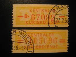 ZKD Michel Nº 16/7 Cat. 2003: 9,50 Eur Used Cancel Dienstmarken Service DDR Germany - Service