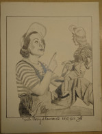 Dessin Au Crayon-Illustrateur -Gisèle PARRY, Actrice (6) - Dessins