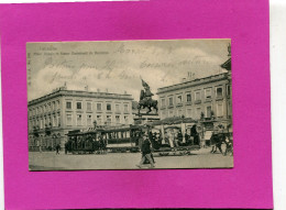 BRUXELLES    1900  TRAMWAY A CHEVAUX PLACE ROYALE  EDIT CIRC OUI - Transporte Público
