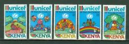 Kenya 1987   Yv 382/386**, Mi 383/387**, SG 403/407**, 40 Years For Children 1946 - 1986   MNH - Kenya (1963-...)
