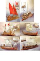 (A) Greece 2011 - Sailing Ships  - 6 First Day Cards - Cartoline Maximum