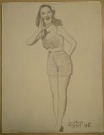 Dessin Au Crayon-Illustrateur -Jeune Femme à Identifier (6) - Drawings
