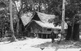 "05510 ""MALESIA - MALAYA -  MALAY HOUSE"" ANIMATA. CART. POST. ORIG. NON SPEDITA - Malesia"