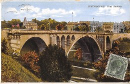"05512 ""LUXEMBOURG - PONT ADOLPHE""  CART. POST. ORIG. SPEDITA 1928 - Lussemburgo - Città"