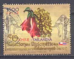 Chili 2012 Relations Diplomatiques Chili-Thaïlande Oblitéré ° - Chile