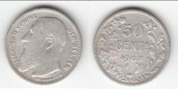 **** BELGIQUE - BELGIUM - BELGIE - 50 CENTIMES 1907 LEOPOLD II KONING DER BELGEN - ARGENT - SILVER *** EN ACHAT IMMEDIAT - 06. 50 Centimes