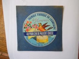 LE PASSEREAU FROMAGE FABRIQUE EN CHAMPAGNE ETS JULES HUTIN 51BLAISE S/s ARZ MARNE - Cheese