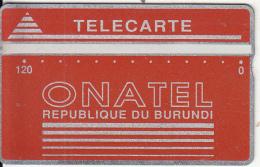 BURUNDI - Onatel Logo, Red 120 Units, CN : 106C, Tirage 12000, Used - Burundi