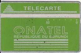 BURUNDI - Onatel Logo, Green 60 Units, CN : 711D, Tirage 5000, Used