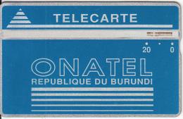 BURUNDI - Onatel Logo, Blue 20 Units, CN : 406A, Tirage 30000, Used