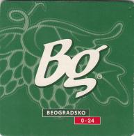 BEER MATS - Serbia - Bg Pivo - Bg Beer - Beogradsko Pivo 0-24 - Sous-bocks