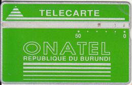 BURUNDI - Onatel Logo, Green 50 Units, CN : 406A, Tirage 30000, Used