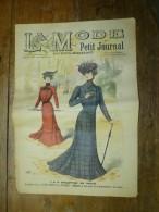 1901La MODE Du Petit Journal    TOILETTES DE VILLE, (gravures Couleurs Dont V. Michel ) Double-page Et Une - Vintage Clothes & Linen