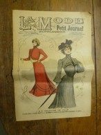 1901 La MODE Du Petit Journal    TOILETTES DE VILLE, (gravures Couleurs Dont V. Michel ) Double-page Et Une - Vintage Clothes & Linen