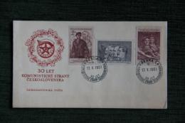 Enveloppe Timbrée - Tchecoloslovaquie , 30LET KOMUNISTICKE STRANY CESKOSLOVENSKA - Tchécoslovaquie