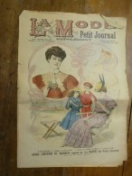 1901 La MODE Du Petit Journal ELEGANTES TENUES Pour JEUNE FILLE Et GARCON Grav Couleurs  1ere Page - Habits & Linge D'époque