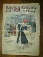 1905 La MODE Du Petit Journal TOILETTES POUR JEUNES FEMMES, EN AUTOMOBILE ,grav Couleurs  1ere Page - Vintage Clothes & Linen