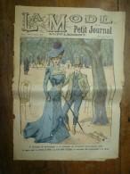 1900 La MODE Du Petit Journal TOILETTE Et COSTUME DE PRINTEMPS Sur LES CHAMPS ELYSEES ,grav Couleurs  1ere Page - Habits & Linge D'époque