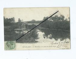 CPA - Génelard  -  La Bourbincet Le Pont Du Chemin De Fer - Autres Communes