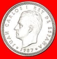 § 3 CROWNS: SPAIN ★ 1 PESETA 1987 MINT LUSTER! LOW START★NO RESERVE! Juan Carlos I (1975-2014) - [ 5] 1949-… : Royaume