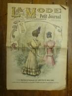 1906 La MODE Du Petit Journal TOILETTES De PROMENADE Pour JEUNE FILLE Et JEUNE FEMME,grav Couleurs  1ere Page - Habits & Linge D'époque
