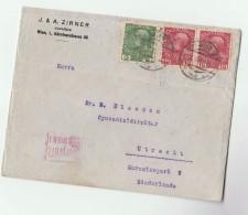 1915 AUSTRIA Stamps COVER Uberpruft Wien CENSOR To NETHERLANDS Censored - 1850-1918 Empire