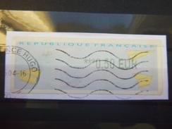 Timbre De Distributeur Lisa Impression En Noir 0,50 Eur France - Otros