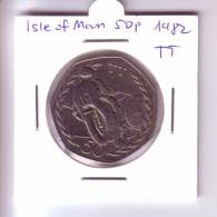 Isle Of Man 50 Pence - TT Motorbike (1982) - Regional Coins