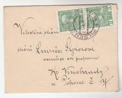 1908 Pilsen Czech AUSTRIA  Stamps COVER Plzen - Covers & Documents