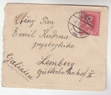 1917 Zizkov Czech AUSTRIA  Stamps COVER To Lemberg GALICIA Ukraine - 1850-1918 Empire