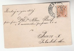 1903 Ceske Budejovice Bohemia AUSTRIA 6h  Stamps COVER Budweis - Covers & Documents