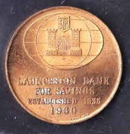 Australia 1960 Launceston Bank For Savings Token - Professionals / Firms