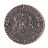 Australia 1906 Centenary Of Launceston Medallion - Tokens & Medals