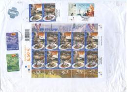 2005  FINLANDIA FOGLIETTO EUROPA  E. 6,50 BUSTA RACCOMANDATA  – EUROPE SOUVENIR SCHEET ON COVER (6800) - Finlandia