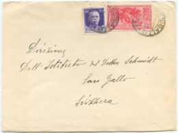 1932 GARIBALDI C. 75 + IMPERIALE C. 50 BUSTA  7.2.33 PER SVIZZERA TARIFFA LETTERA ESTERO OTTIMA QUALITA' (A696) - Storia Postale
