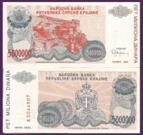 Croatia P R24a, 50,000 Dinar, Fortress, 1993 $3CV! - Croatie