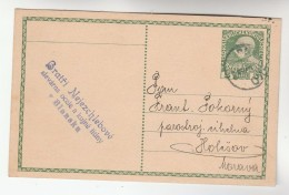 1912 Blansku Czech  AUSTRIA  Postal STATIONERY CARD Stamps Cover Blansko - Stamped Stationery